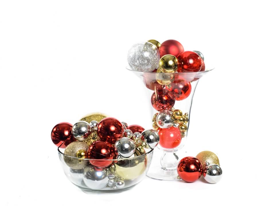 deco-noel-ornements-boules de noel-rouge-argent-or-br