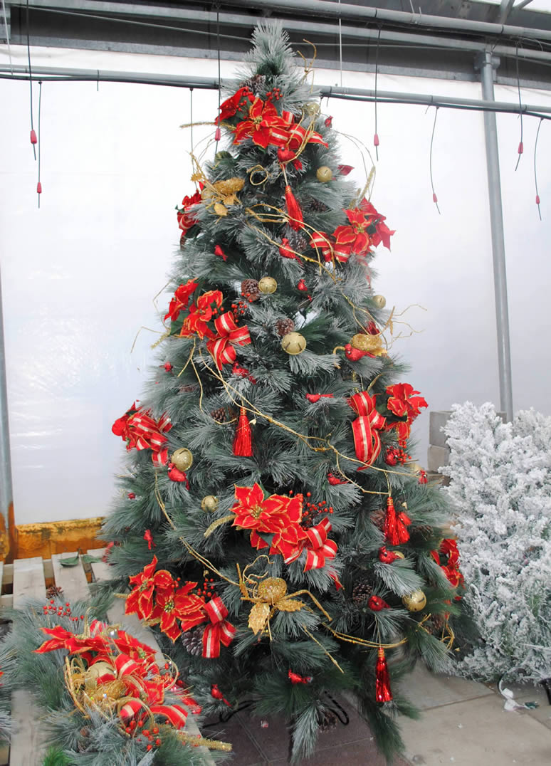 D cors de no l jardin dion - Decoration sapin enneige ...