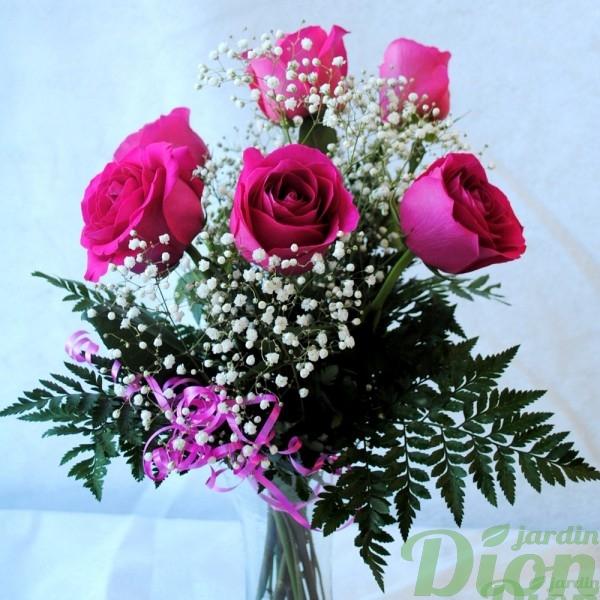 I tincelle avec vase jardin dion for Bouquet st valentin pas cher