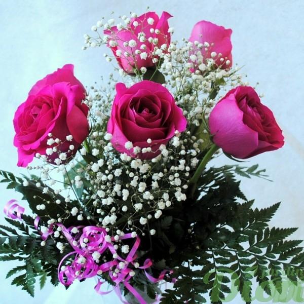 fb-0966-étincelle-6-roses-couleurs-bouquet-st-valentin-amour