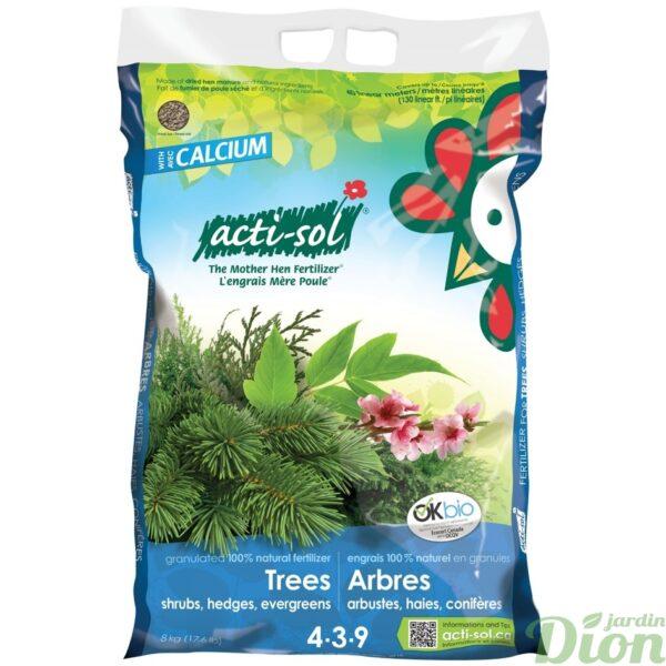 Engrais naturel en granules arbres, arbustes, haies et conifères 8kg