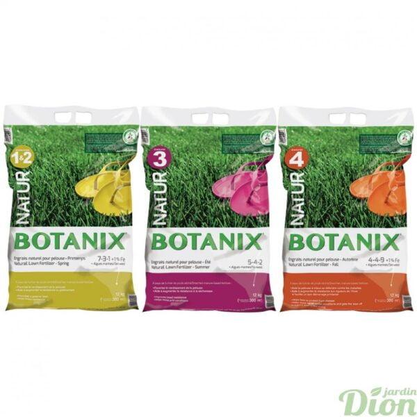 Engrais naturel pour la pelouse 3 sacs 4 étapes