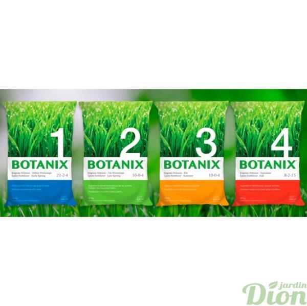 Engrais pelouse Botanix 4 étapes