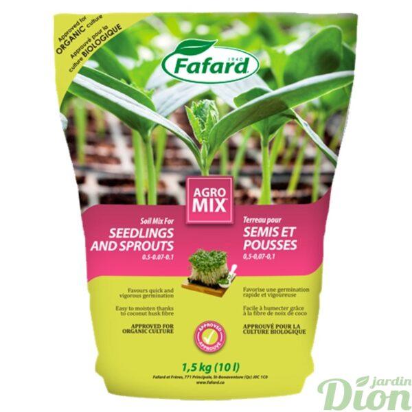 Terreau pour semis et pousses Agro Mix Fafard