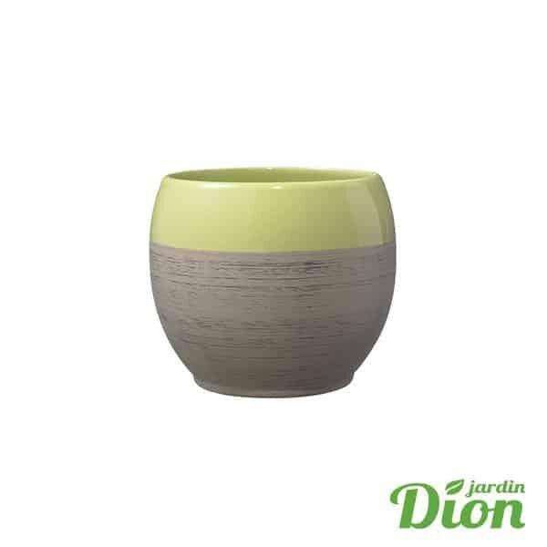 Cache-pot Alberta Brun vert bois 15 cm diamétre (2774638)