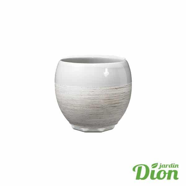 Cache-pot Alberta gris bois 15 cm diamétre (2774637)