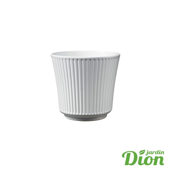 cache pot Delphi classique blanc brillant 12 x 11 cm de haut (2774749)