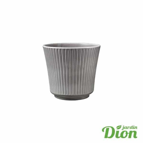 cache pot Delphi gris 12 x 11 cm de haut (2774746)