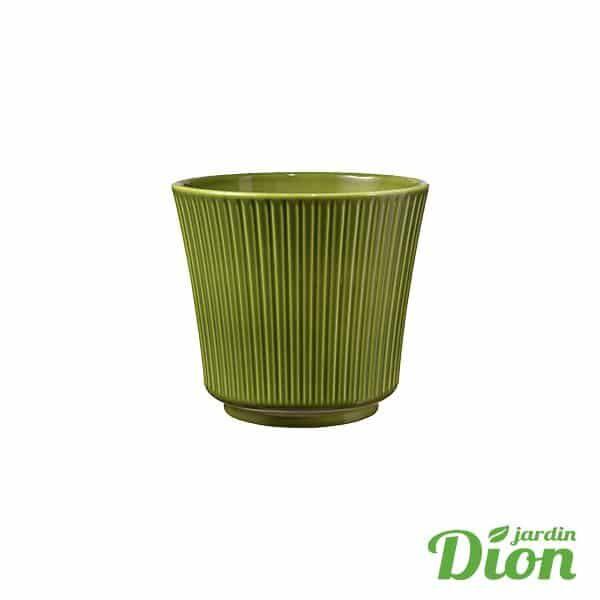 cache pot Delphi vert mousse 12 x 11 cm de haut (2774737)